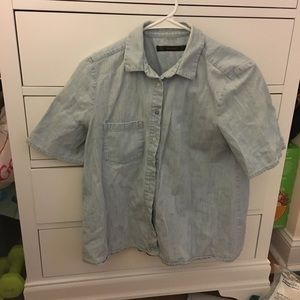 Zara Chambray Short Sleeve Shirt